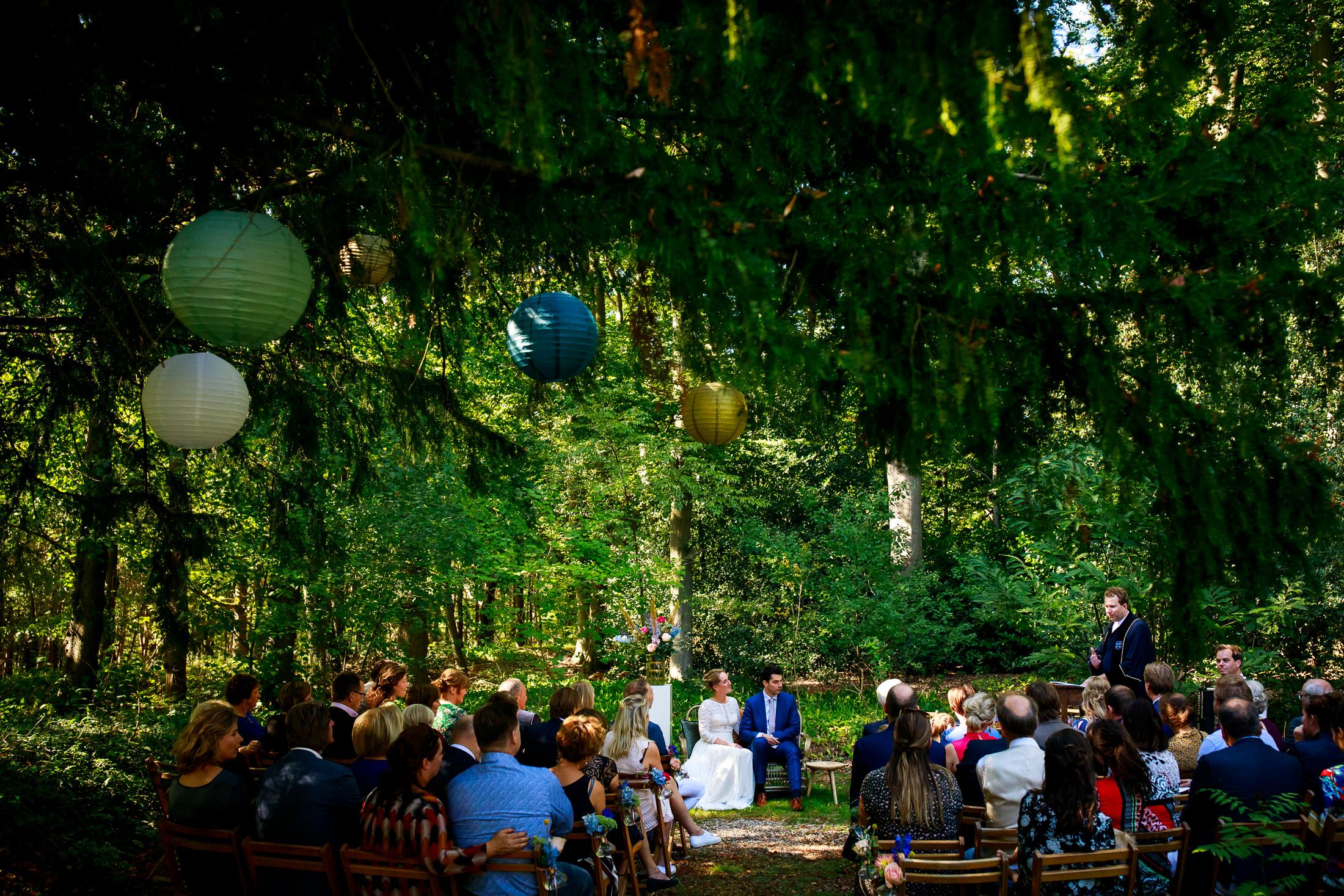 Trouwen bij de Hoorneboeg in Hilversum | Buiten trouwen| Buitenbruiloft | trouwen in het bos