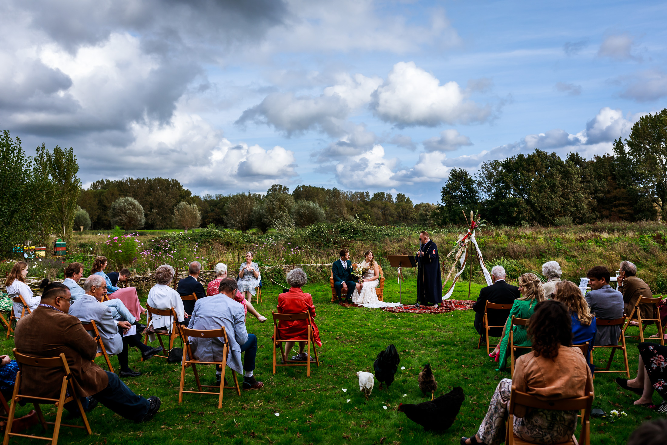 Mooiste trouwlocaties van Nederland | Tuin van de Smid Leiden | Buiten trouwen | Buitenbruiloft | Trouwen in een Kas