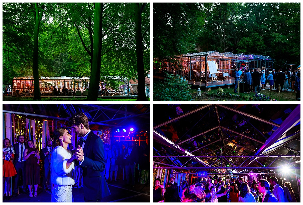Trouwen in een kas | Mobiele kas huren bruiloft | Trouwen in het bos | Botanische trouwlocatie